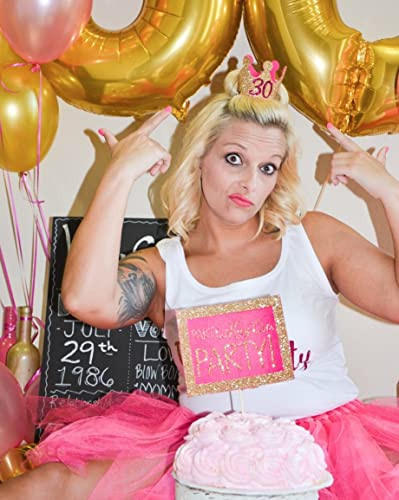 Image Unavailable. Image not available for. Color  Adult Cake Smash 30th  Birthday 2 Piece Set with Crown ... e6f827de4253