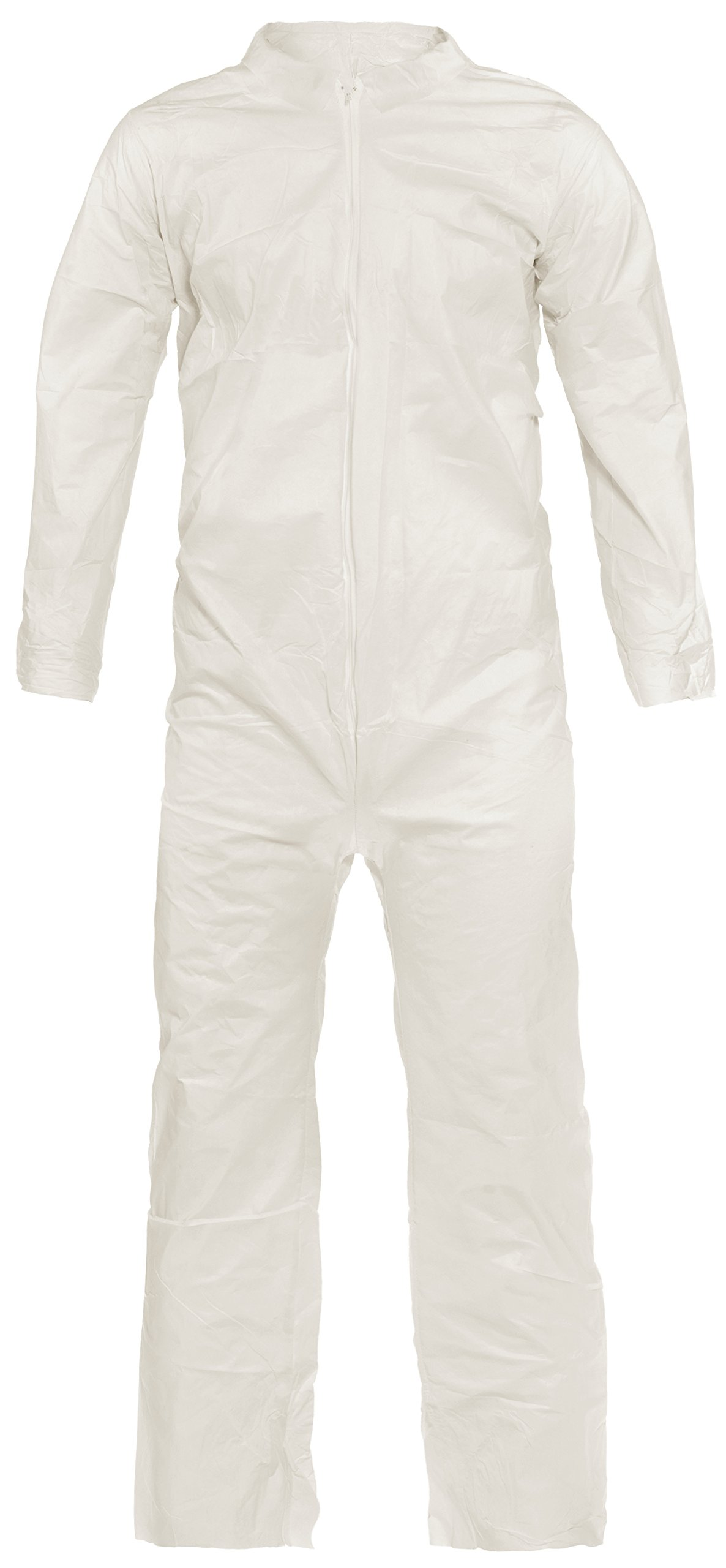 Lakeland Pyrolon Plus 2 Flame-Resistant Coverall, Disposable, Open Cuff, Large, White (Case of 25)