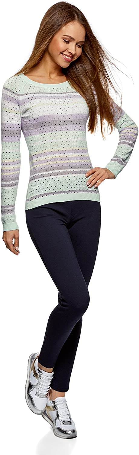 oodji Ultra Womens Perforated Fine Knit Pullover