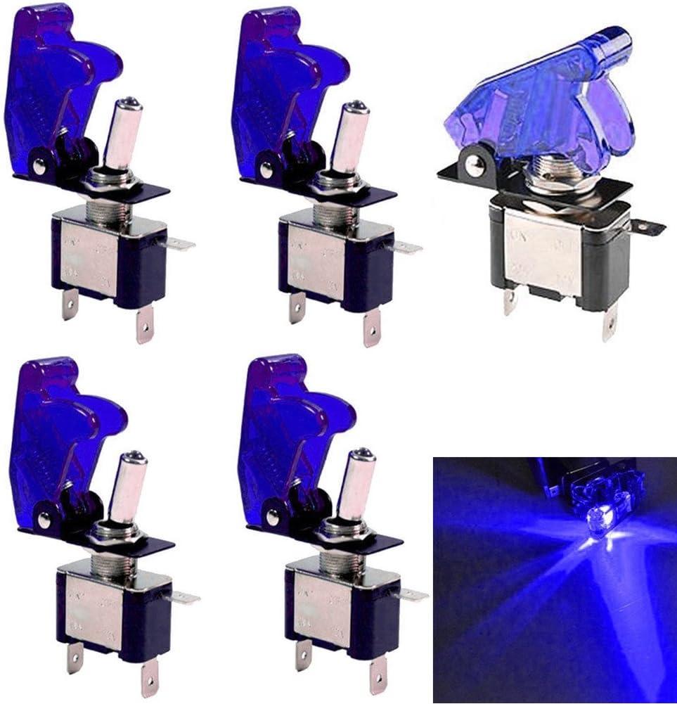 Wei/ß 2 Pcs Qiorange 5X Kill Switch Auto Lastwagen KFZ Boot 12V 20A Wei/ß LED Kippschalter Schalter LED Licht Schalter EIN//AUS