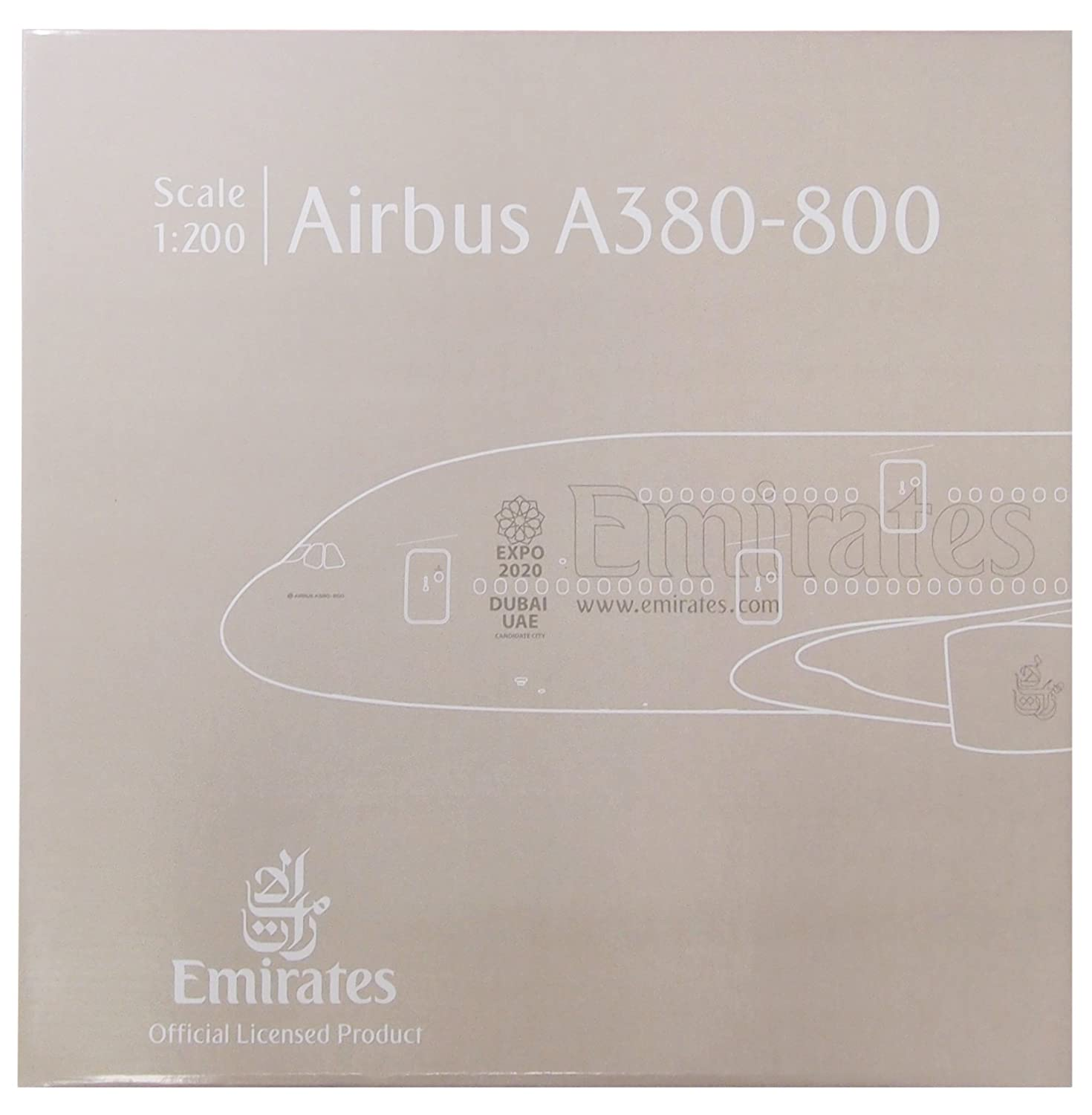Herpa 555432-001 - Emirates Airbus A380-800 HE555432-001