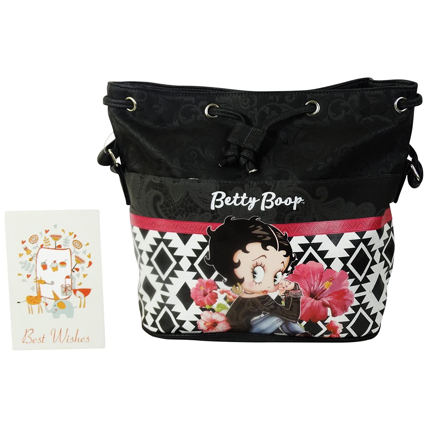 Betty Boop Tribal Bucket Bag Shoulder Bag Handbag Bu