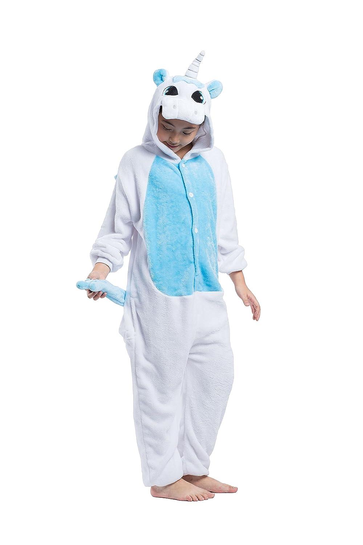 Hstyle Bambini Vestito Unicorno Kigurumi Pigiama Bambini Cosplay Costume Tutina