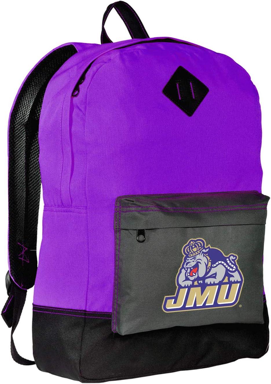 Broad Bay Large James Madison University Duffle Bag JMU Gym Bags Purple