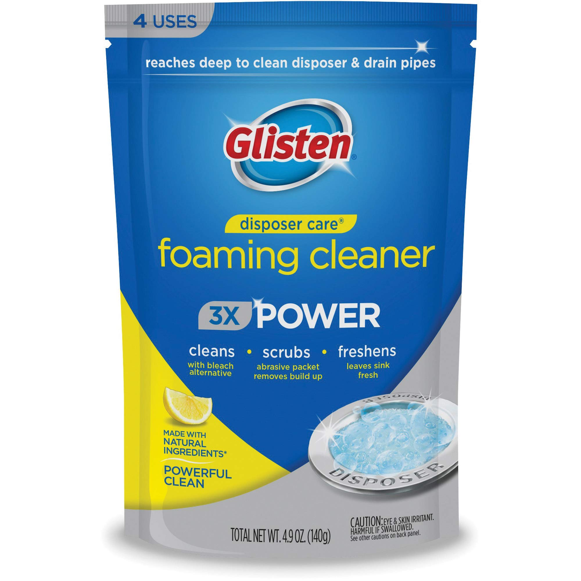 Glisten Disposer Care Cleaner With Foaming Bleach Alternative Clean And Deodorize Your Garbage Disposal Fresh Lemon Scent Buy Online In Canada Glisten Products In Canada See Prices Reviews And