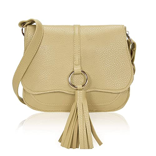 c173d7883f Kleio Stylish Trendy Faux Leather Fringes Cross Body Sling hand Bag For  Women Girls (