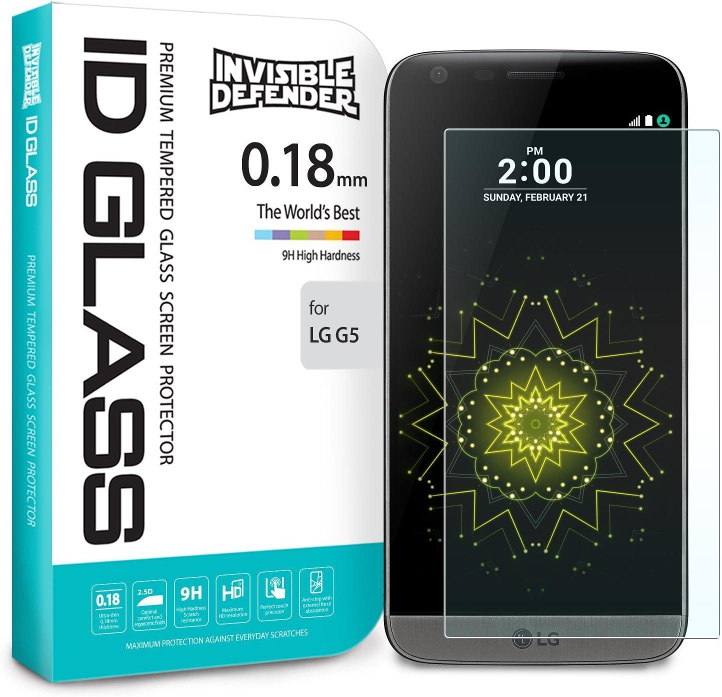 Protector de Pantalla LG G5, Invisible Defender Glass [MAX HD ...