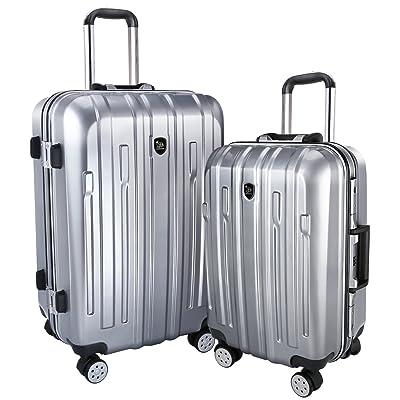 "BIXIDRAGON Luggage Sets Aluminum Alloy Frame PC Suitcase 2 Pcs(20""+24"") Carry-On cheap"