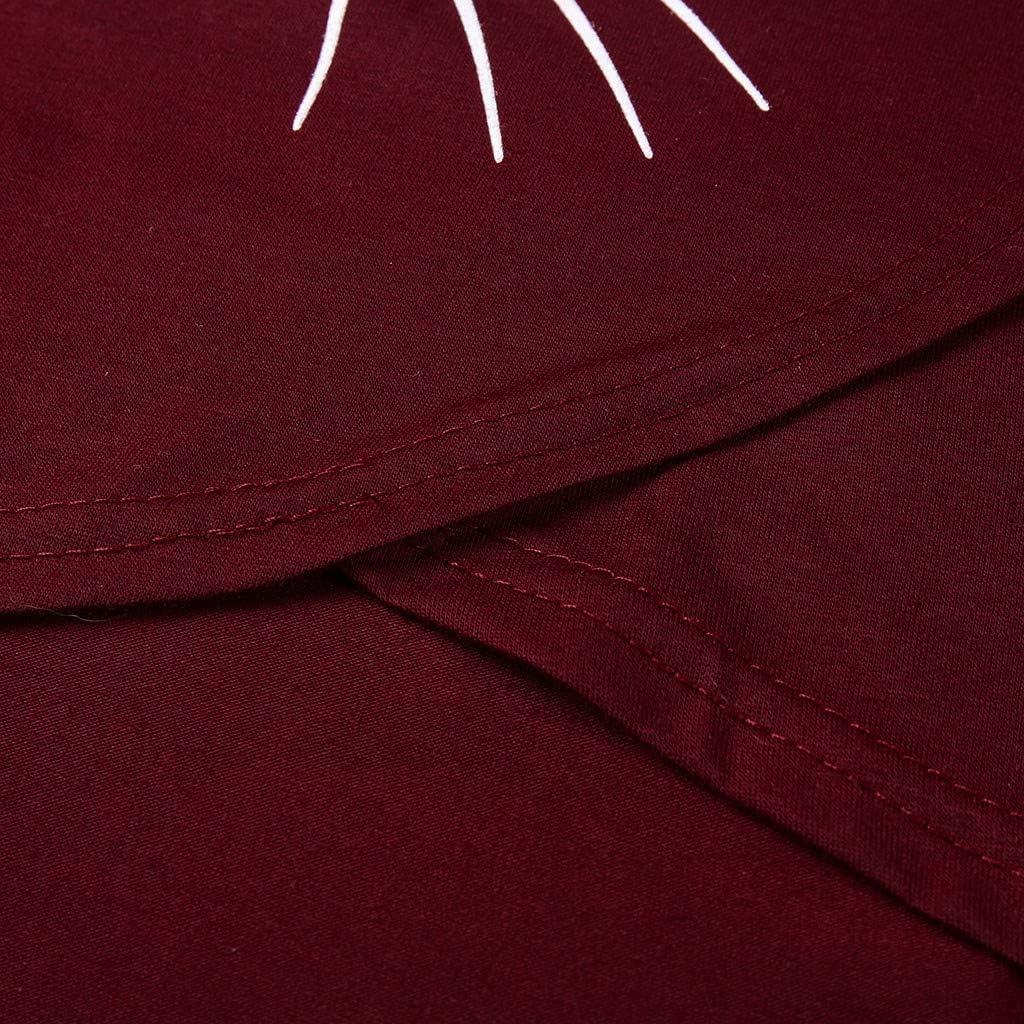 Topgrowth Magliette Premaman Divertente Maglia Allattamento Canotta Donna Camicetta Senza Maniche T-Shirt di maternit/à Stampa Gatto