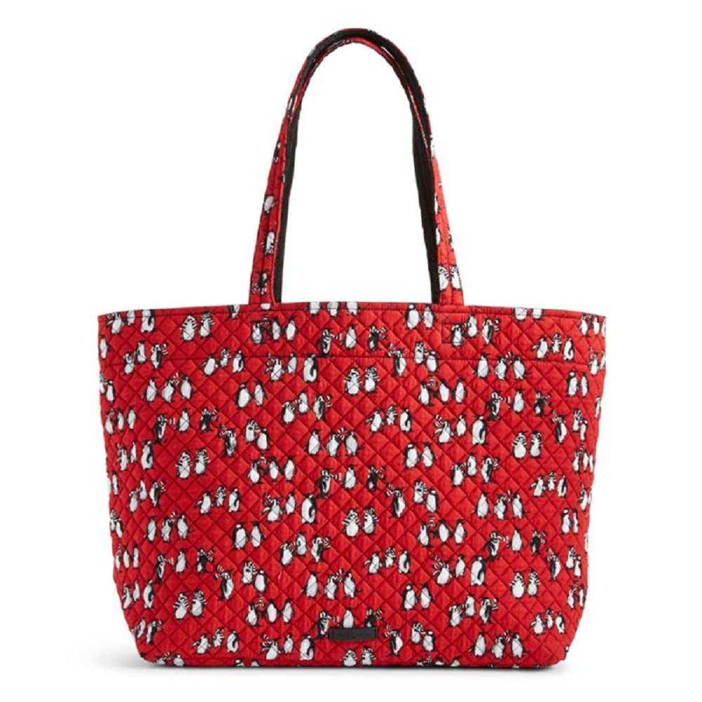Vera Bradley Iconic Grand Tote in Playful Penguins Red
