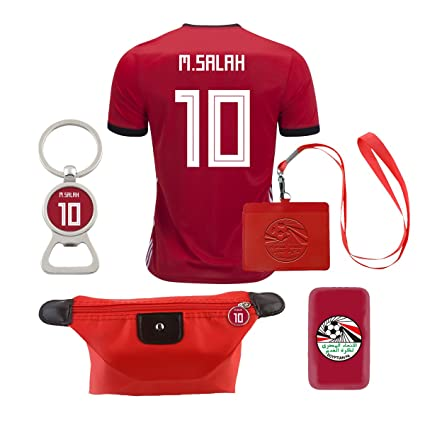 1d3f26806fd Image Unavailable. Image not available for. Color  EE bestort Egypt  10  Salah 2018 Home Mens Soccer Jersey ...