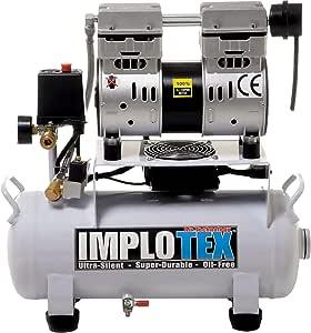Inflotex - Compresor de aire silencioso (850 W, 14 L, solo 55 dB, silencioso, sin aceite): Amazon.es: Bricolaje y herramientas