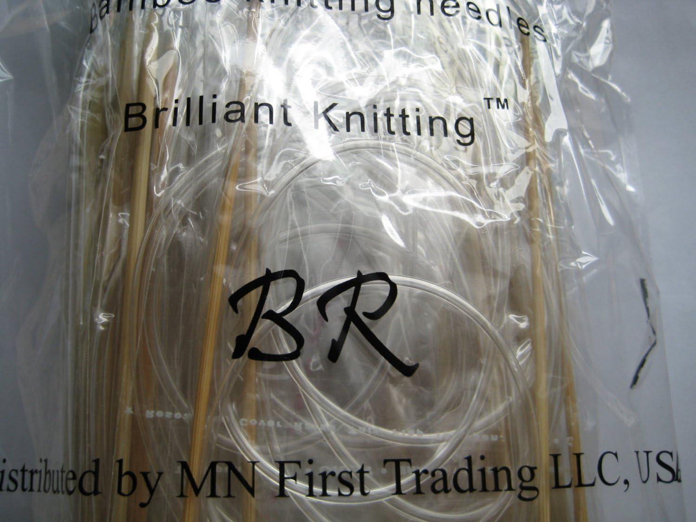 """US 0-15 15 sets 5/"""" Bamboo Knitting Needles DP"""