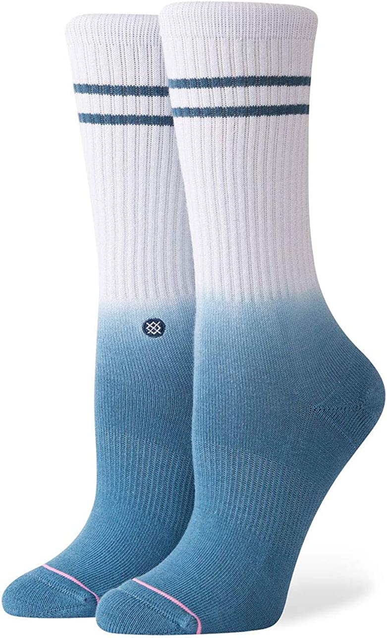 Stance Uncommon Dip Crew Socks Baby Blue