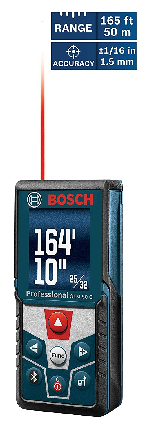 Bosch GLM 50 C Bluetooth Enabled Laser Distance Measure}