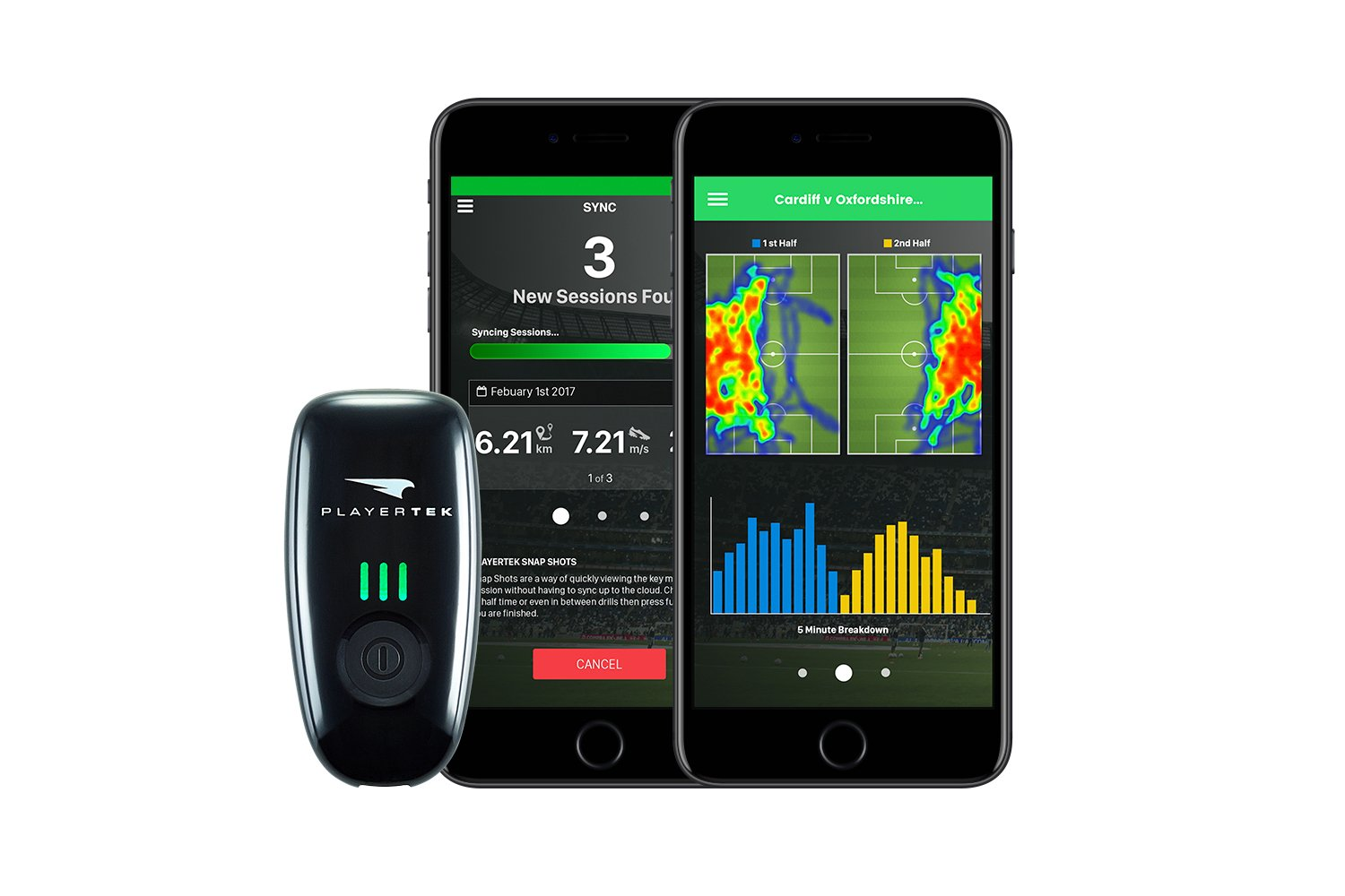 PLAYERTEK Wearable GPS Tracker for Football with App to Track and Improve  Your Game - on iPhone and Android