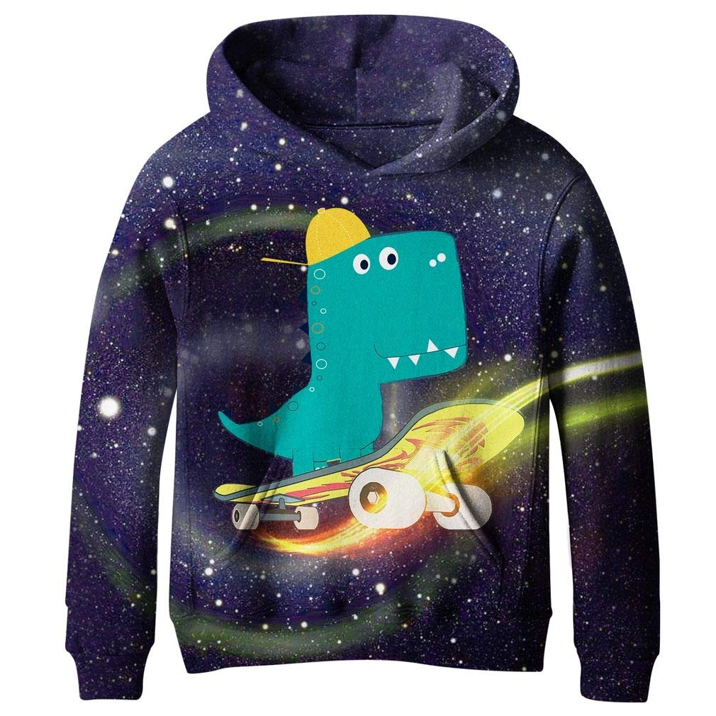 SAYM Boys'Teen Youth Galaxy Fleece Sweatshirts Pockets Cotton Hoodies 4-16Y SSE125