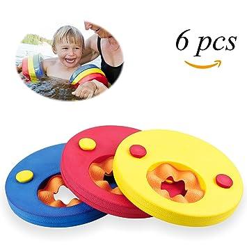 Mopalwin Discos Flotantes, Manguitos de natación para niños Flotador Discos Espuma Natación Arm Bands, flotador bebe piscina(6 Discos): Amazon.es: Deportes ...