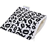 Itzy Ritzy Happens Reusable Snack and Everything Bag, XOXO, Black/White