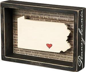 Primitives by Kathy Wanderlust Box Sign, 8.50 x 6-Inch, Pennsylvania