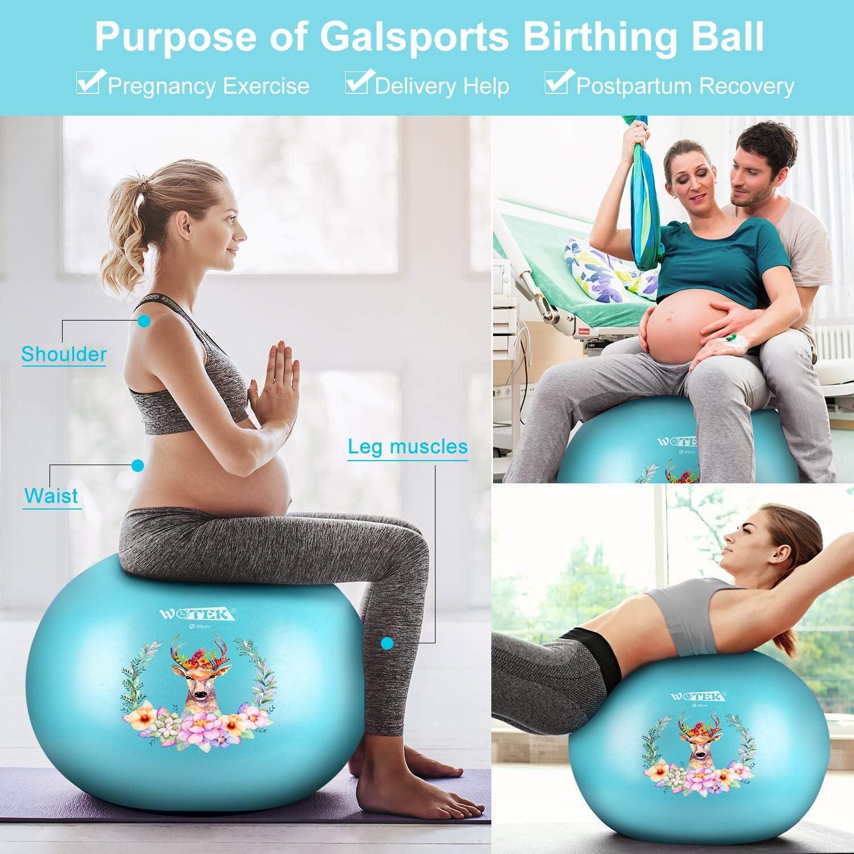 ISUDA Gymnastikball 65 cm//75 cm,Anti-Burst Sitzball f/ür Fitness Excercise,Yoga,Pilates und Schwangerschafts/übungen,Balance Gym Ball mit Luftpumpe