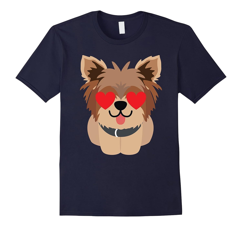 Yorkshire Terrier Dog Emoji Heart Love Eye Shirt T-Shirt Tee-TH