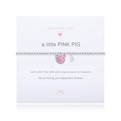 Joma Jewellery Childrens a little Pink Pig bracelet wF5JCPO