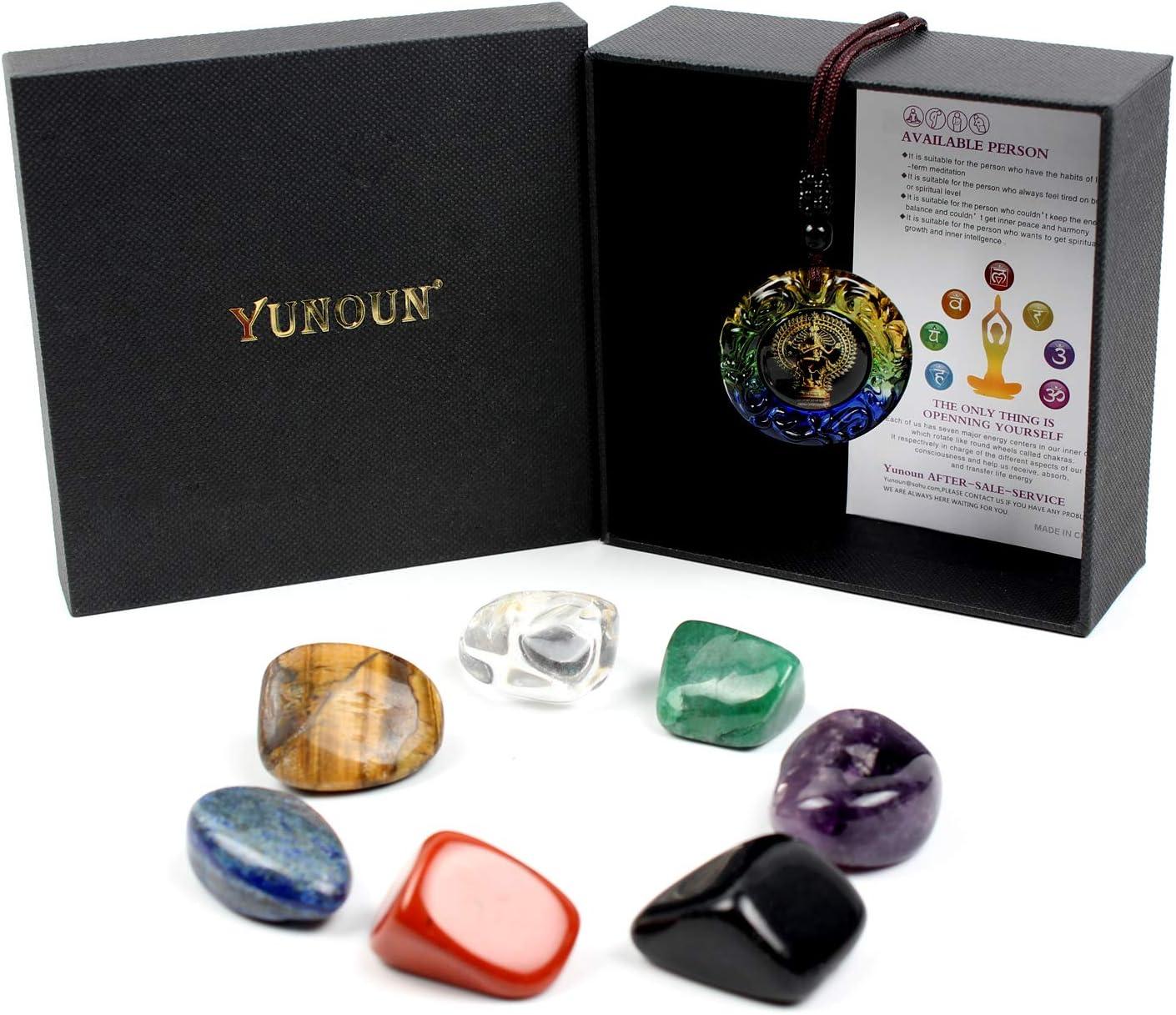 7 Chakra Crystals Set – Healing Crystal Polished Tumbled Worry Stones