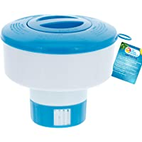 """U.S. Pool Supply Pool Floating Collapsible Chlorine 3"""" Tablet Chemical Dispenser, 7"""" Diameter, Collapsible"""