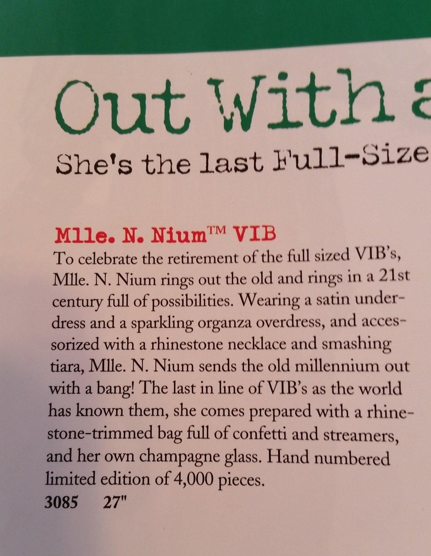 VIB 1999 Mlle N North American Bear Co Nium #3085