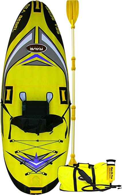 Amazon.com: Rave mar Rebel Kayak inflable 2011: Sports ...