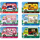 6 Pcs ACNH Sanri Collaboration Pack Card RV Villager Furniture for Animal New Horizons Compatible with Switch Normal…