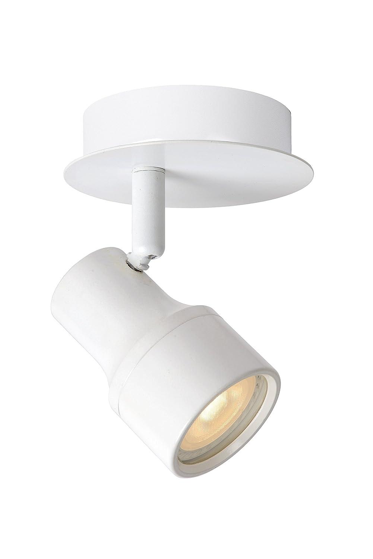 Lucide SIRENE-LED - Deckenstrahler Badezimmer - Ø 10 cm - LED Dim. - GU10 - 1x4, 5W 3000K - IP44 - Weiß 17948/05/31