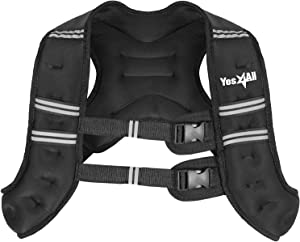 Yes4All Weighted Vest – Single 6lb, 8lb, 10lb, 12lb and Combo Weighted Vest & Ankle Weight