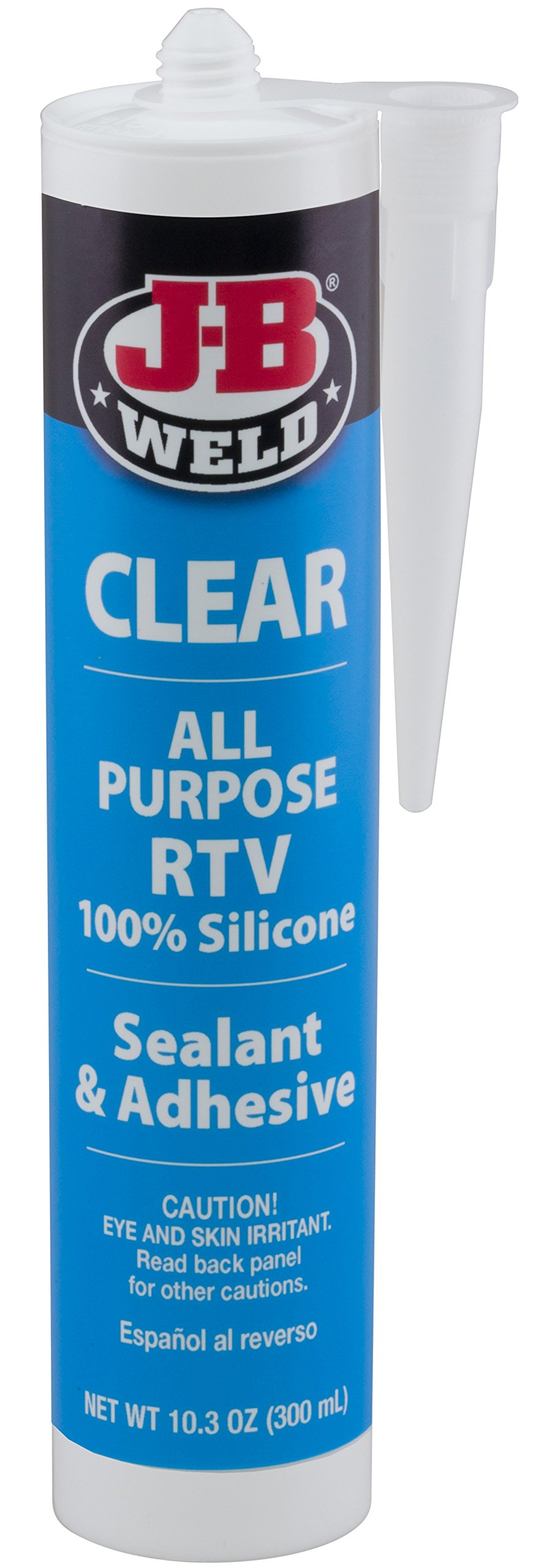 J-B Weld 31910 Clear All-Purpose RTV Silicone Sealant and Adhesive - 10.3 oz.