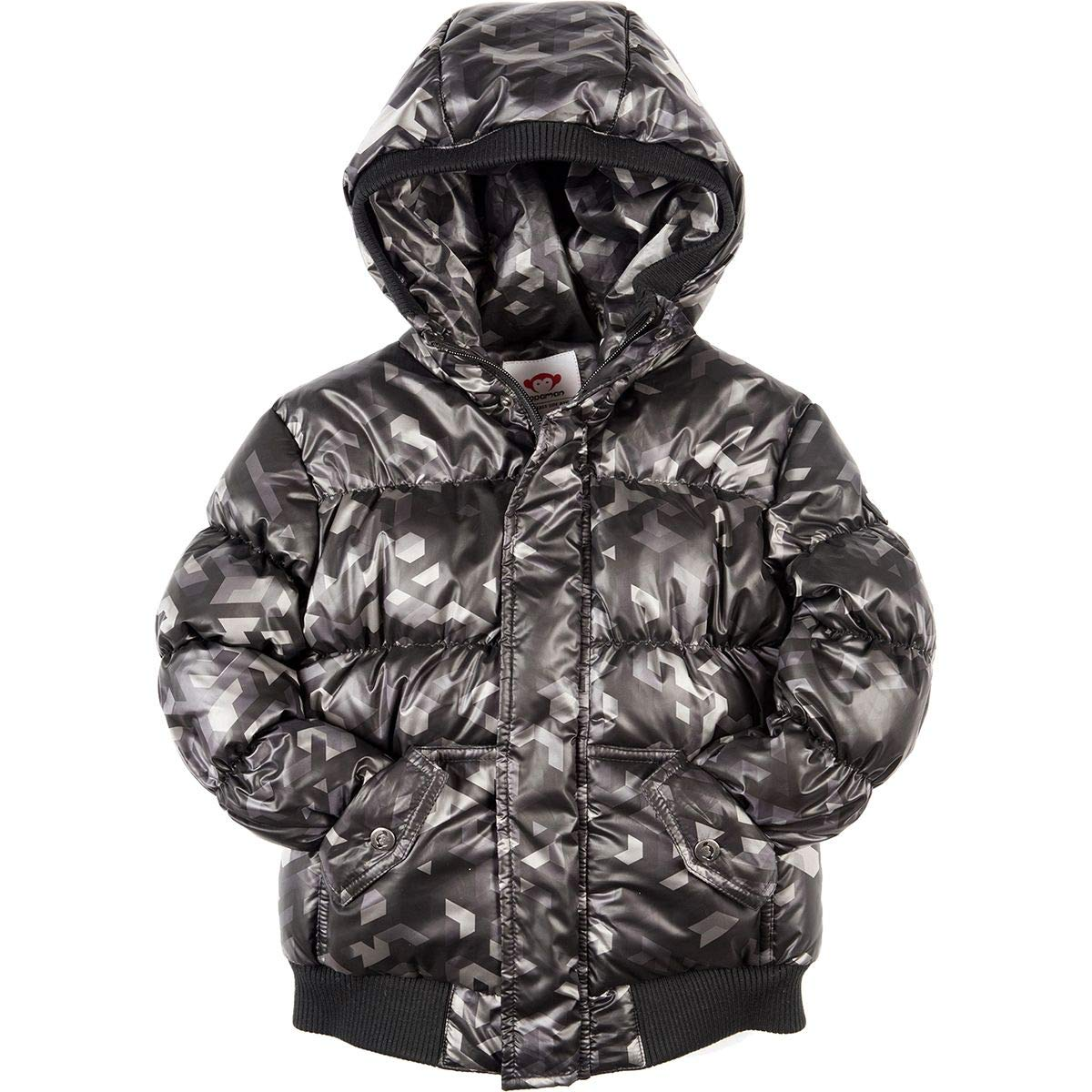 Appaman Kids Mens Puffy Coat with Hood and Front Pockets (Infant/Toddler/Little Kids/Big Kids)