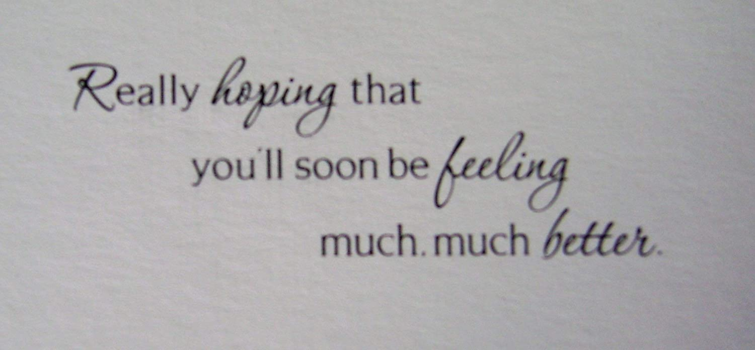 Get Well Soon Greeting Occasion Cards