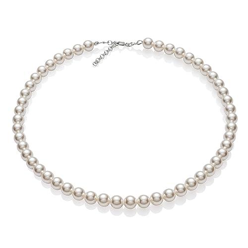 più foto 00fda eb0bc Collana di perle con Elementi Swarovski® originali, con custodia per  gioielli, ideale come regalo per mogli o fidanzate