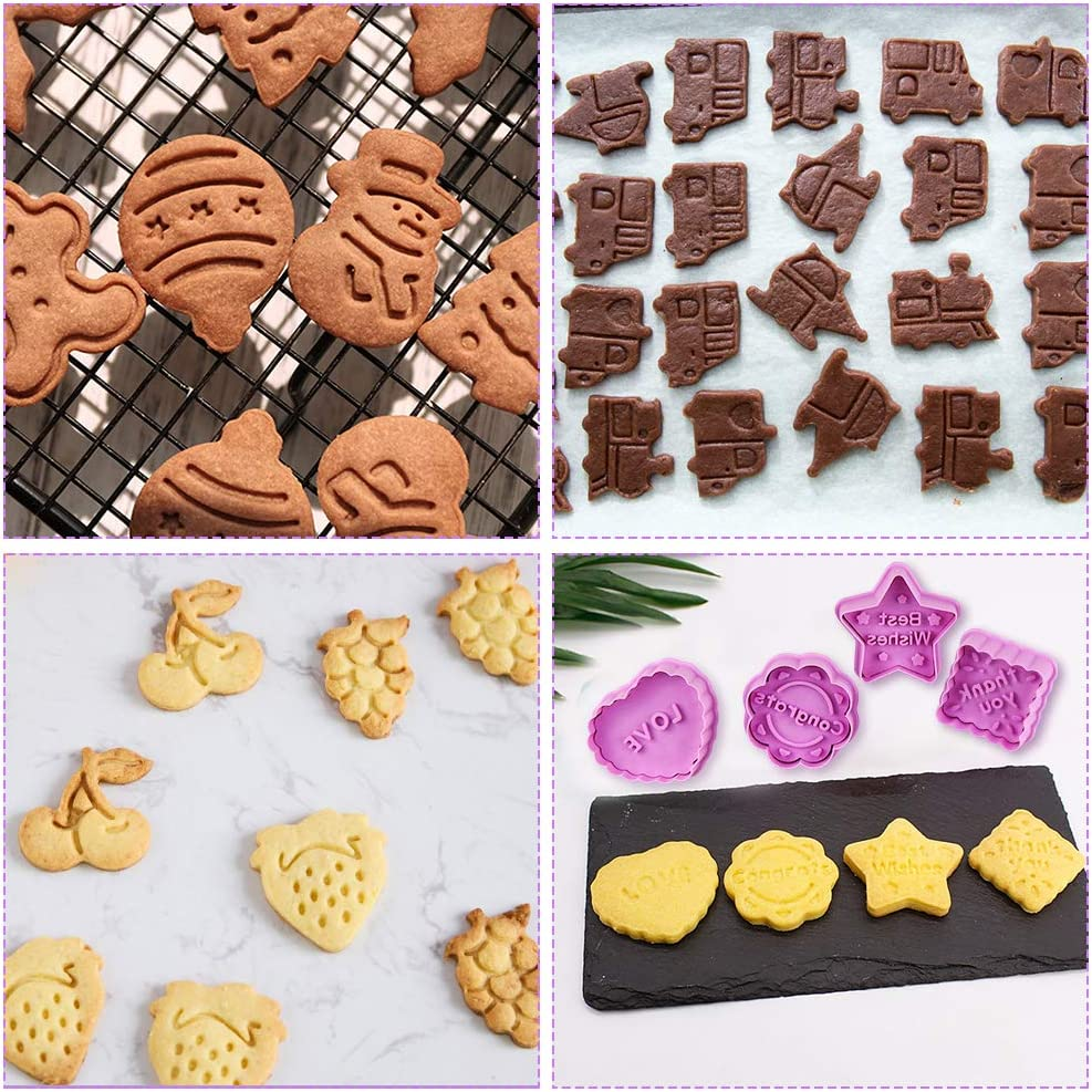 San Valentino Giving del Thank formine per Biscotti a Forma di Fondente FHzytg Biscotti Fondente per Pasqua Accessori da Cucina Set di 32 formine per Biscotti con estrattore