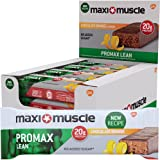 Maximuscle 60 g Chocolate Orange Flavour Promax Lean High Protein Bar - Pack of 12