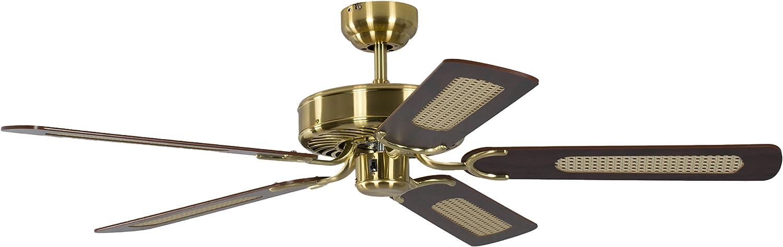 Pepeo 4260316670120 Ventilador de techo, 58 W, 240 V, Dorado, 132 ...