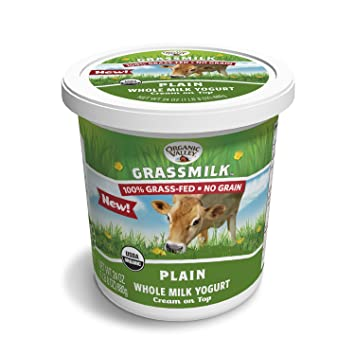 Organic Valley Grassmilk Whole Milk Yogurt, Plain, 24 Ounces ...
