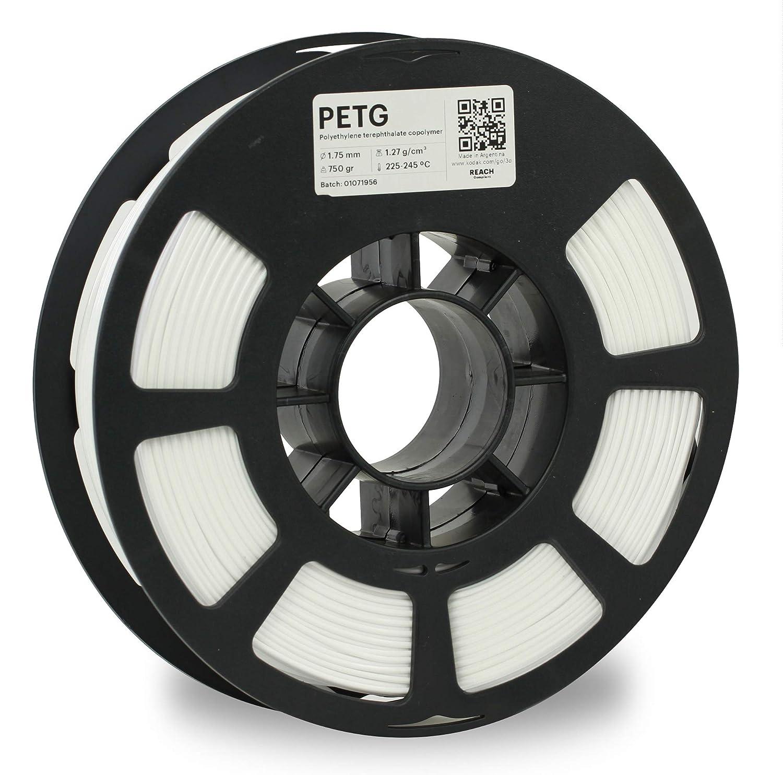 KODAK PETG Filament 1.75mm for 3D Printer, White PETG, Dimensional Accuracy +/- 0.02mm, 750g Spool (1.7lbs) PETG Filament 1.75 Used as 3D Filament Consumables to Refill Most FDM Printers