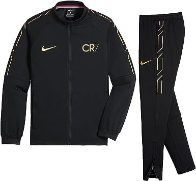Chandal Nike CR7 Dry Academy Negro/Dorado Niño: Amazon.es ...