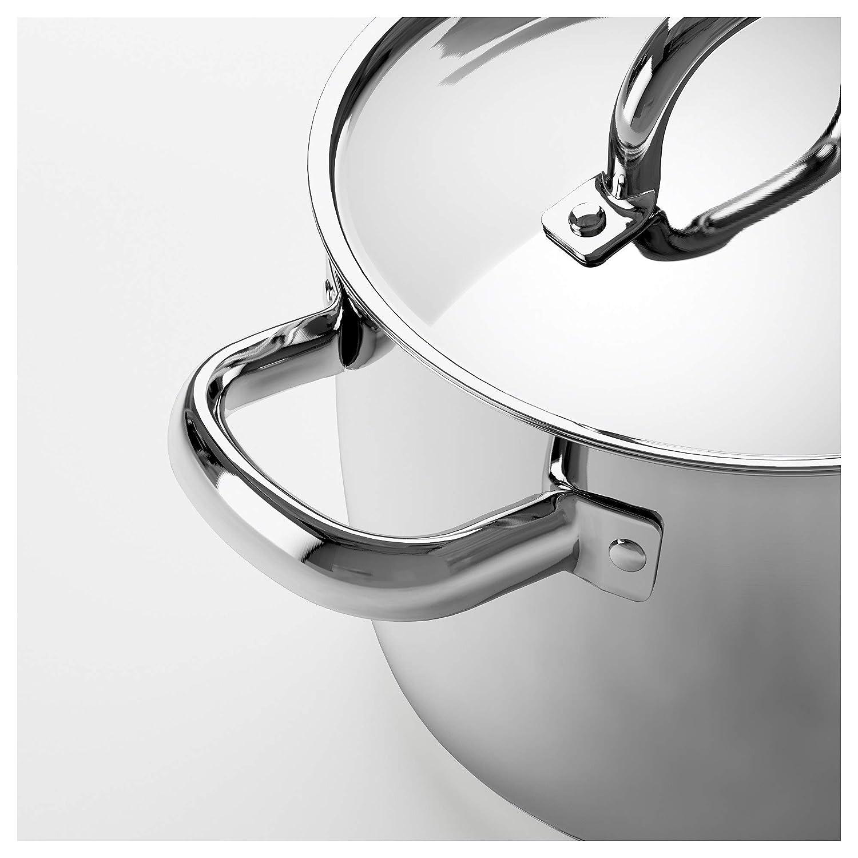 IKEA 502.864.20 Oumbärlig - Olla con tapa (aluminio, 28 x 28 x 23 cm): Amazon.es: Hogar