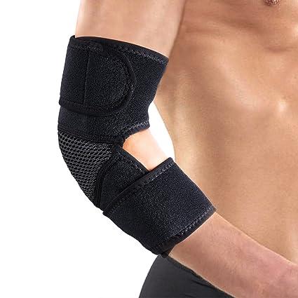Codera de neopreno ajustable y transpirable para alivio del dolor artrítico, entrenamiento, tendinitis,