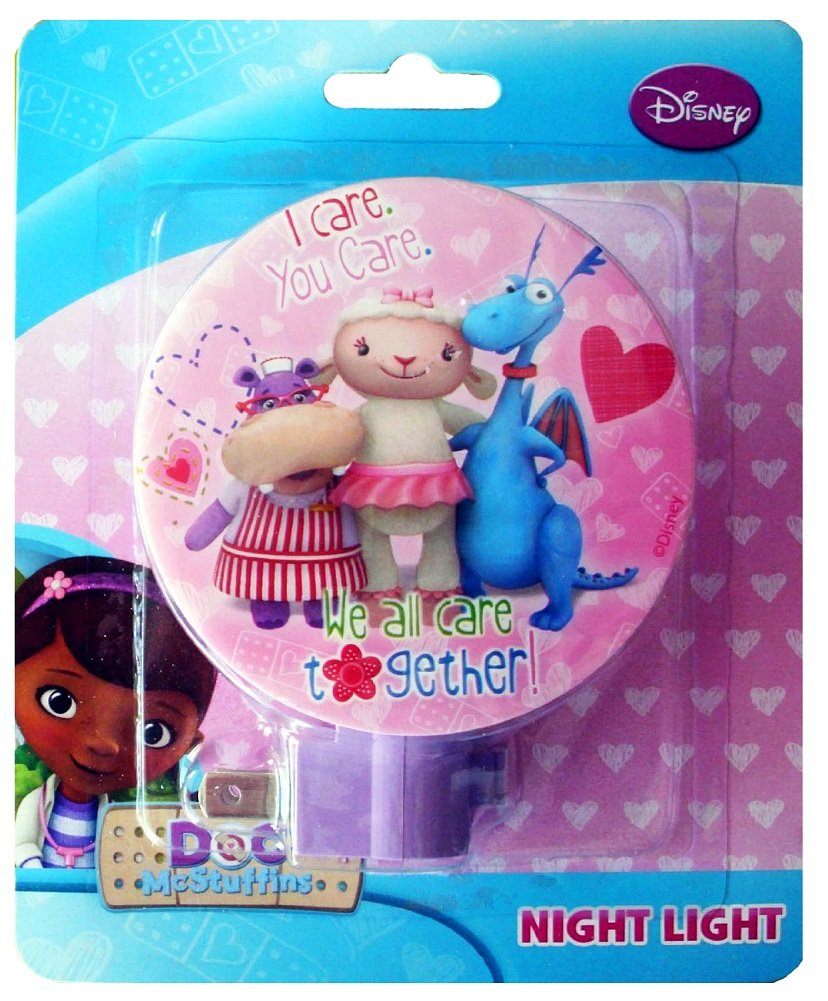 Amazon.com: Disney Doc McStuffins Night Light, We All Care Together: Baby