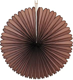 product image for 3-pack 13 Inch Tissue Paper Party Fans (Brown)