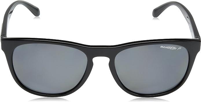 Arnette Mens Hardflip Polarized Square Sunglasses Matte Black 56 mm 4245