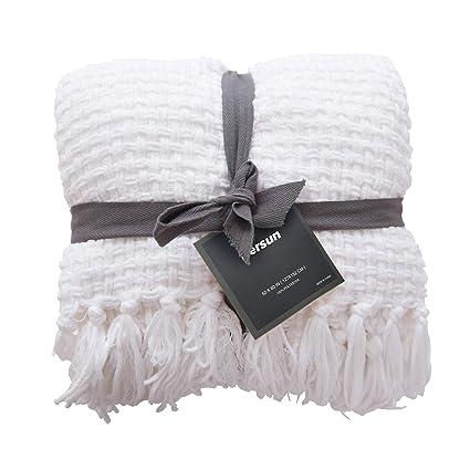 Amazoncom Persun Lightweight Throw Blanket Soft Decorative Knit